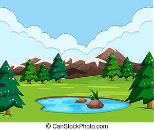 paysage nature, vue