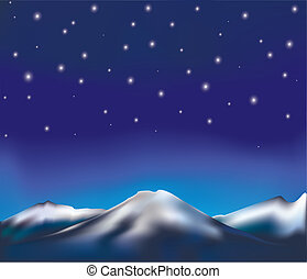 paysage, nuit