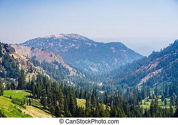 paysage, présent, air;, fumée, tout, californie, wildfire, ...