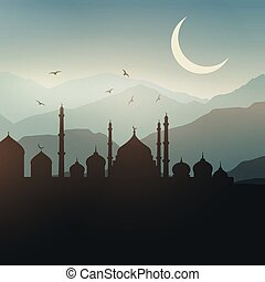 paysage, ramadan, fond