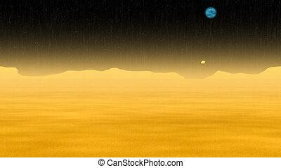 paysage, soleil, armageddon, vidéo