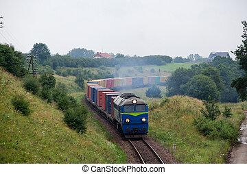 paysage, train