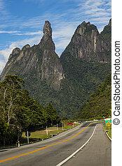 paysage ville, rio, janeiro, de, america., localisé, état, doigt, brésil, teresopolis, montagnes., dieu, sud