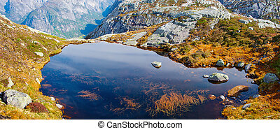 paysages, dans, montagnes., norvège