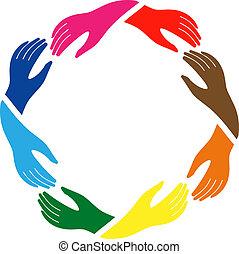 paz, amistad, señal