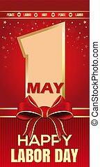 paz, card., maio, may., saudação, trabalho, 1, dia