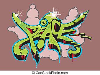 paz, graffiti