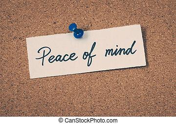 paz, mente