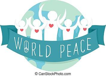 paz mundial, fita