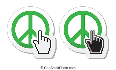 paz mundial, verde, sinal
