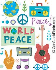 paz, projete elementos