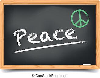 paz, quadro-negro