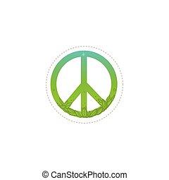 paz, verde, hippie, pacifism, símbolo, signo.