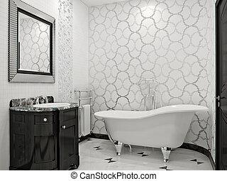 pazar, fürdőszoba, alatt, klasszikus, mód