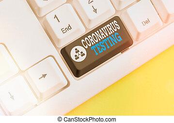 paziente, identificare, colorato, coronavirus, organizzato, vuoto, copia, chiave, nota, scrittura, testing., sarscov2, campioni, foto, collezione, showcasing, viable, tastiera, accessori, space., esposizione, affari