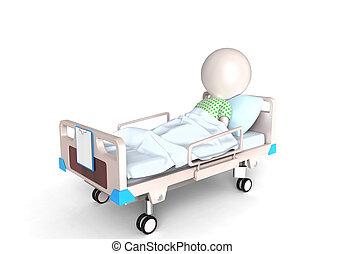 paziente, letto