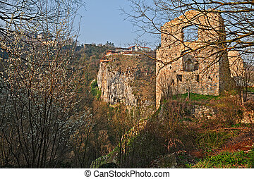 Pazin, Istria, Croatia: landscape with ruins of an ancient...