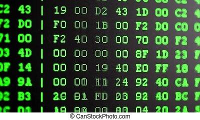 pc, écran, oscillogram