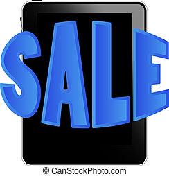 pc , μαύρο , πώληση , δισκίο