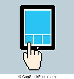 pc, スクリーン, クリック, タブレット
