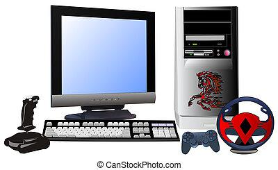 pc, 게임, 비디오