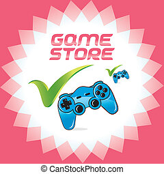 PC and Video Games Accept Icons - Vector PC and Video Arcade...