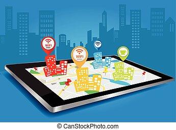 pc, anschluss, wi-fi, tablette