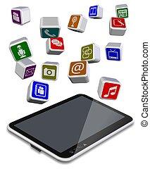 pc, apps, tabliczka