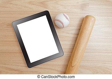 pc, basebol, tabuleta