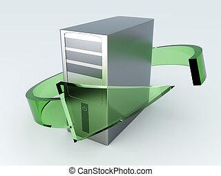 pc recyclage bureau computers rendu vieux illustration de stock recherchez des clip. Black Bedroom Furniture Sets. Home Design Ideas
