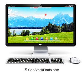 pc computer, desktop