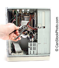 pc computer repair - repair computer pc. open and service or...