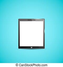 pc computer, tablette, abbildung