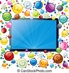 pc, concept, tablette