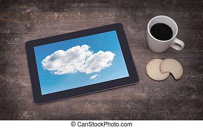 pc, connexion, cloud-computing, tablette, numérique