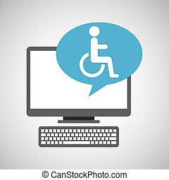 pc device medical concept disabled wheelchair