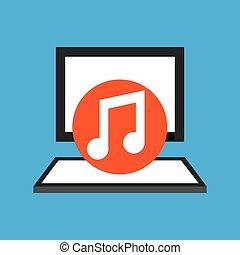 pc device network music media icon