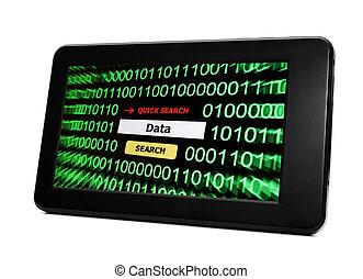 pc, données, tablette
