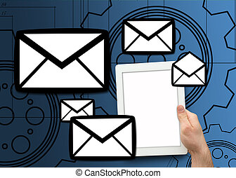 pc, email, tablette graphique