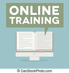 pc, entrenamiento, en línea