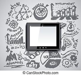 pc, idée, tablette, créatif