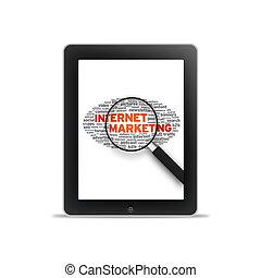 pc, -internet, tabuleta, marketing