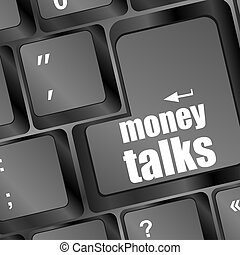 pc keyboard with money talks word