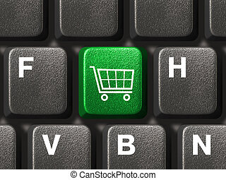 PC keyboard with shopping key