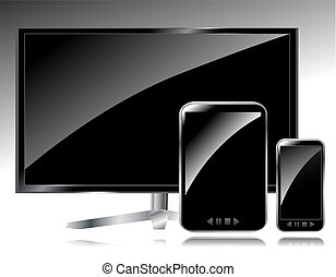 pc, lcd, smartphone, tablette, tv