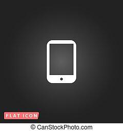 pc, moderne, tablette numérique, icône