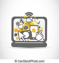pc, netwerk, sociaal