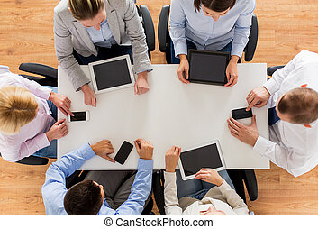 pc, smartphones, タブレット, ビジネス チーム