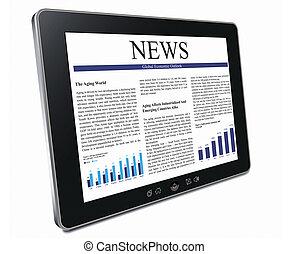 pc, tablette, business, article