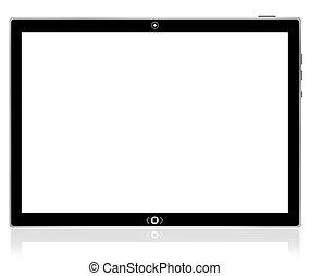 pc, tablette, computer., vide